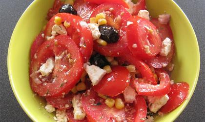Salade de tomate au thon