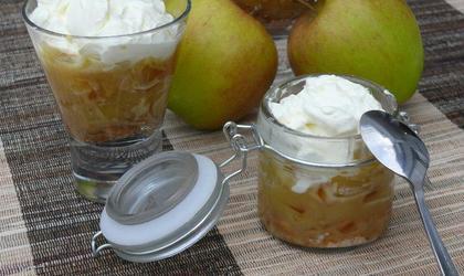 Verrine de pommes au caramel