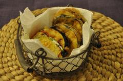 197 kcal. Beignets d'aubergine et chorizo