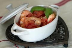 226 kcal. Cocotte de crevettes sauce rougail