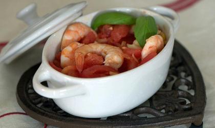 Cocotte de crevettes sauce rougail