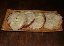 364 kcal. Tartelette poire / bleu