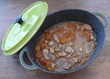 606 kcal. Porc aux abricots