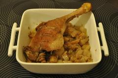 246 kcal. Cuisse de canard aux navets