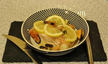 Papillote de saumon aux crustacés