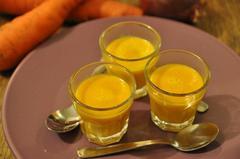 114 kcal. Velouté de carottes au Colombo