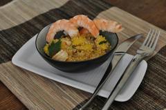 313 kcal. Quinoa à la mangue et aux crevettes