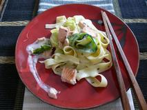 555 kcal. Pates à la courgette et au saumon