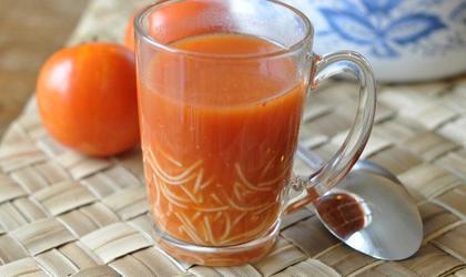 Soupe rapide tomate/ choux fleur