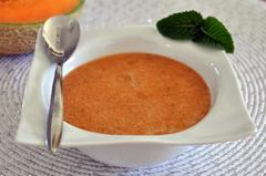87 kcal. Soupe froide de Melon
