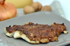 235 kcal. filet de lieu noir en croûte de noix et comté