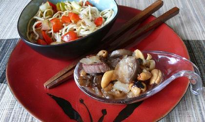 Nouilles chinoise sautées aux légumes