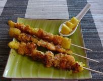 290 kcal. Brochette de Crevette à l'ananas