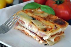 438 kcal. Lasagnes au bacon et à la brousse