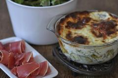 453 kcal. Gratin de ravioles, courgette et menthe
