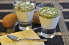 405 kcal. Mousse kiwi - chocolat blanc