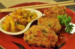 271 kcal. Beignet de riz thaï et salade à la mangue