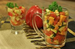 172 kcal. Salade trois couleurs
