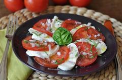 254 kcal. Salade Tomates Mozzarella