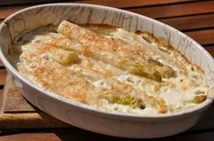 189 kcal. Gratin d'asperges blanches