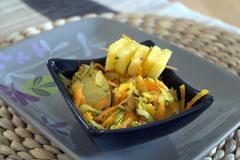 76 kcal. Carottes et Courgettes à l'ananas
