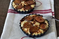 522 kcal. Tartelettes de figues fraîches aux amandes