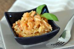202 kcal. Risotto de crevettes au curry