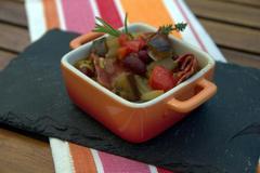 184 kcal. Cocotte piquante au chorizo