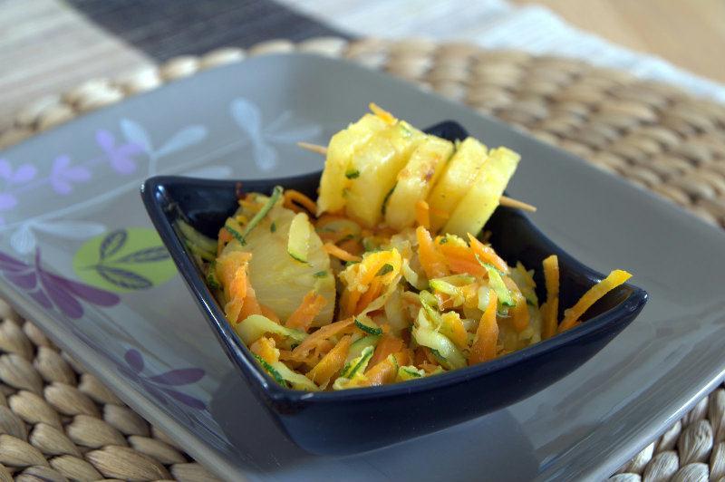 Carottes et Courgettes à l'ananas