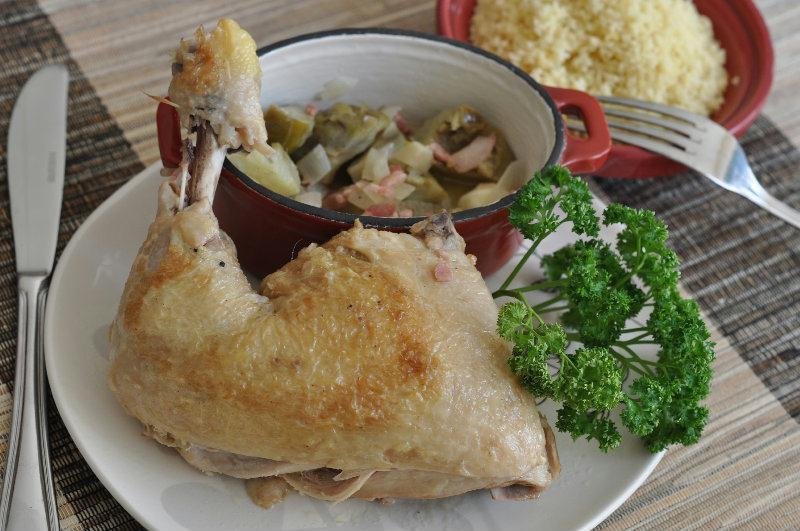 Cocotte poulet artichauts
