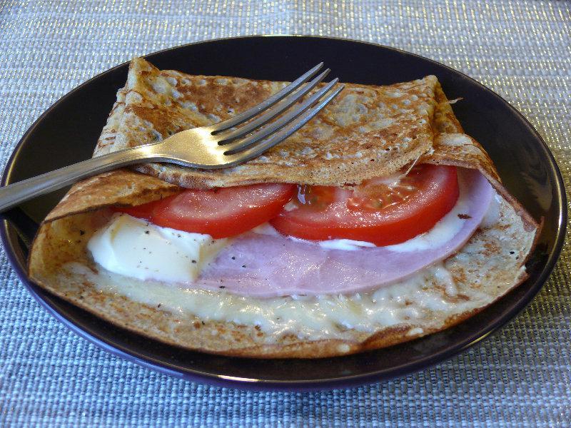 Galettes de jambon et tomate