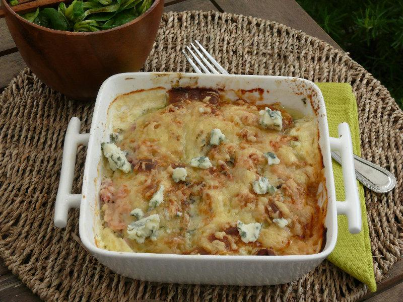 recette gratin de ravioles au roquefort. Black Bedroom Furniture Sets. Home Design Ideas