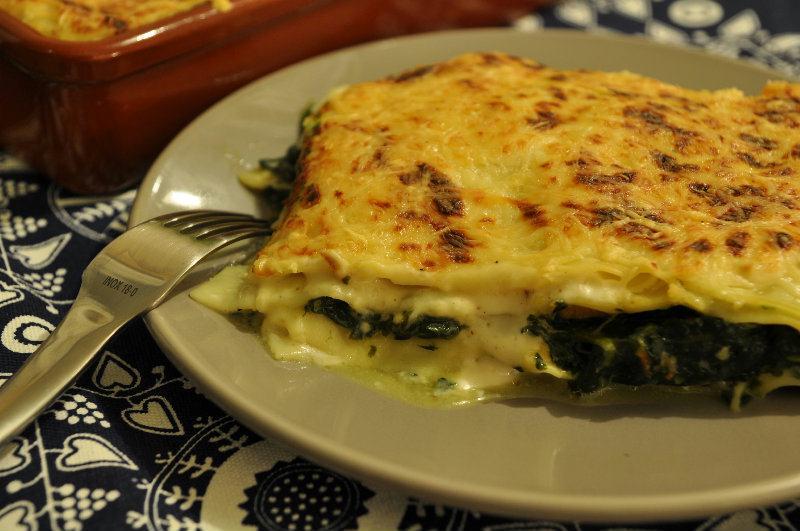 Lasagne au Saumon et aux épinards