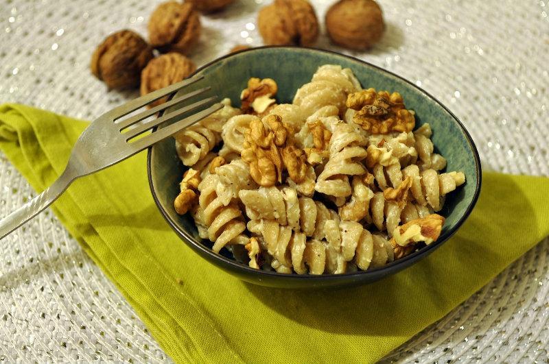 Pâtes aux noix et au mascarpone