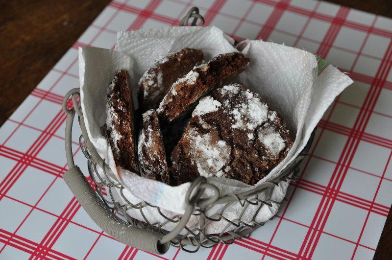 Petits sablés au chocolat et noix de Pécan