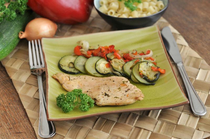 Poulet aux légumes rotis