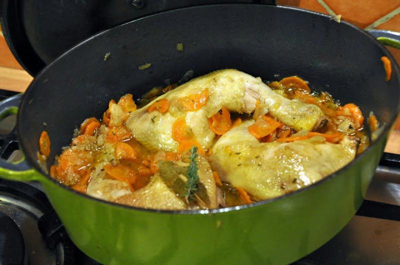 Recette poulet en cocotte - Cuisse de poulet calories ...