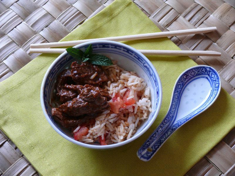 Riz au Boeuf sauce gingembre