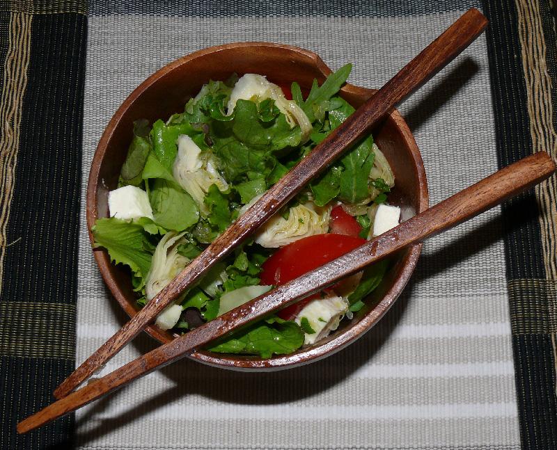 Salade artichauts et tomates