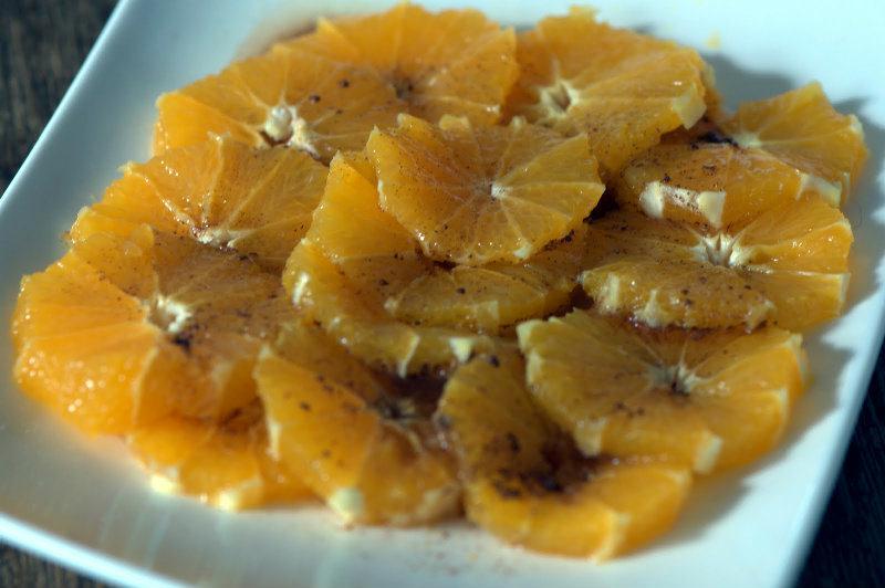Salade d'oranges à la cannelle