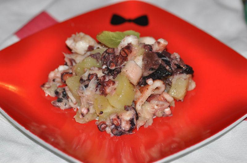Salade de Poulpe et Pommes de terre
