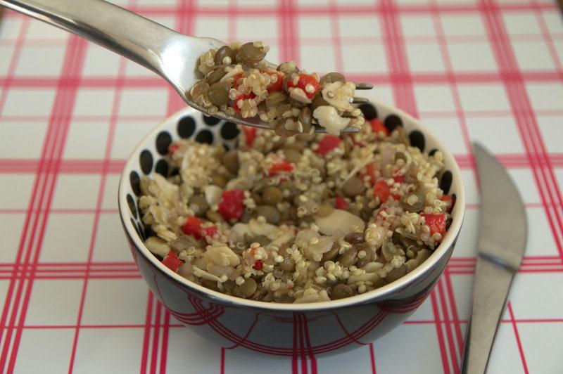 Salade de Quinoa et de lentilles