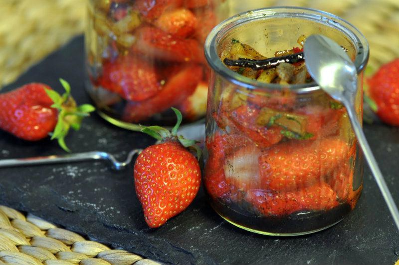 Salade de fraises au gingembre