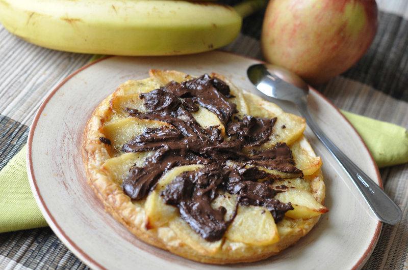 Tartelette  pomme - banane - chocolat