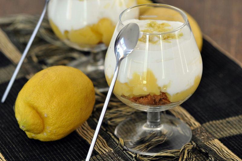 Verrine crème de citron et fromage blanc